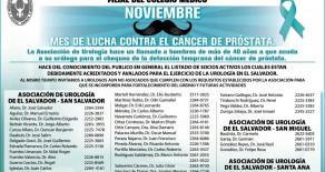 Noviembre mes de la lucha contra el cancer de prostata